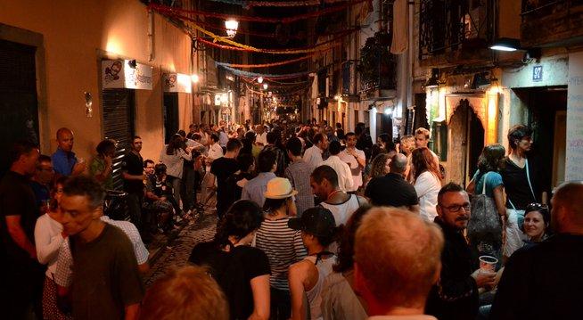 Rue du Bairro Alto - Lisbonne