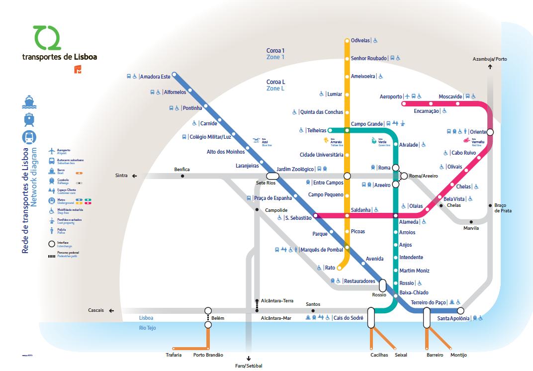 Plan du Métro de Lisbonne