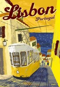 Affiche Vintage Lisbonne