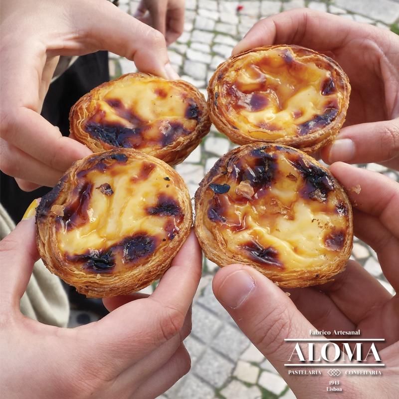Pasteis de Nata - Pastelaria Aloma - meilleurs pasteis de nata - Lisbonne