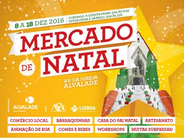Mercado Natal de Alvalade - Marche de Noel - Alvalade - Lisbonne