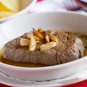 Bifteck à la portugaise - Bife a portuguesa - Cafe Sao Bento - Restaurant Lisbonne