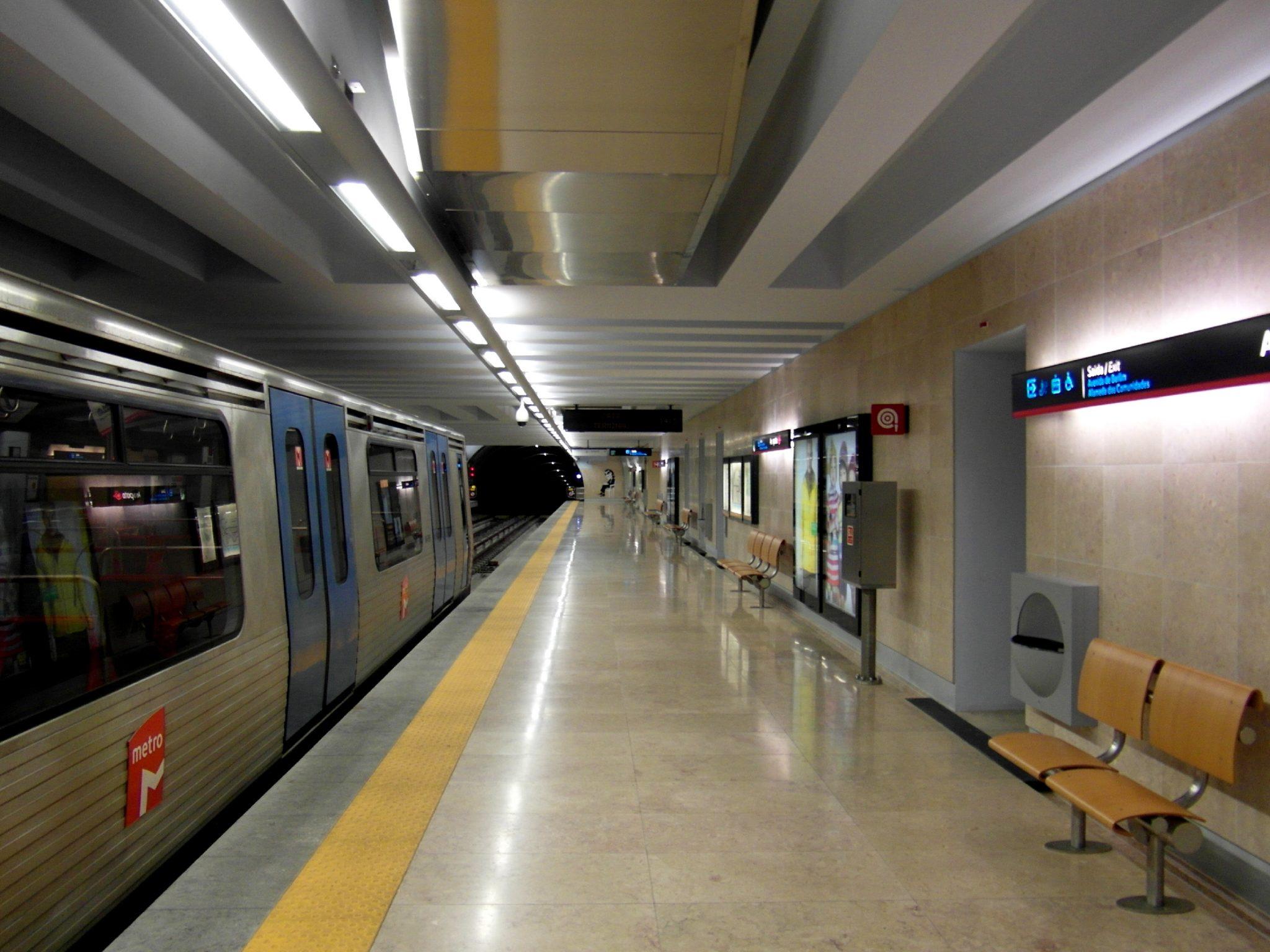 Metro de Lisbonne - Station Aeroport - Photo flickr de Ingolf