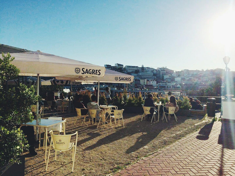 Banana Cafe - Jardim do Torel - Bar Terrasse - Vue Lisbonne
