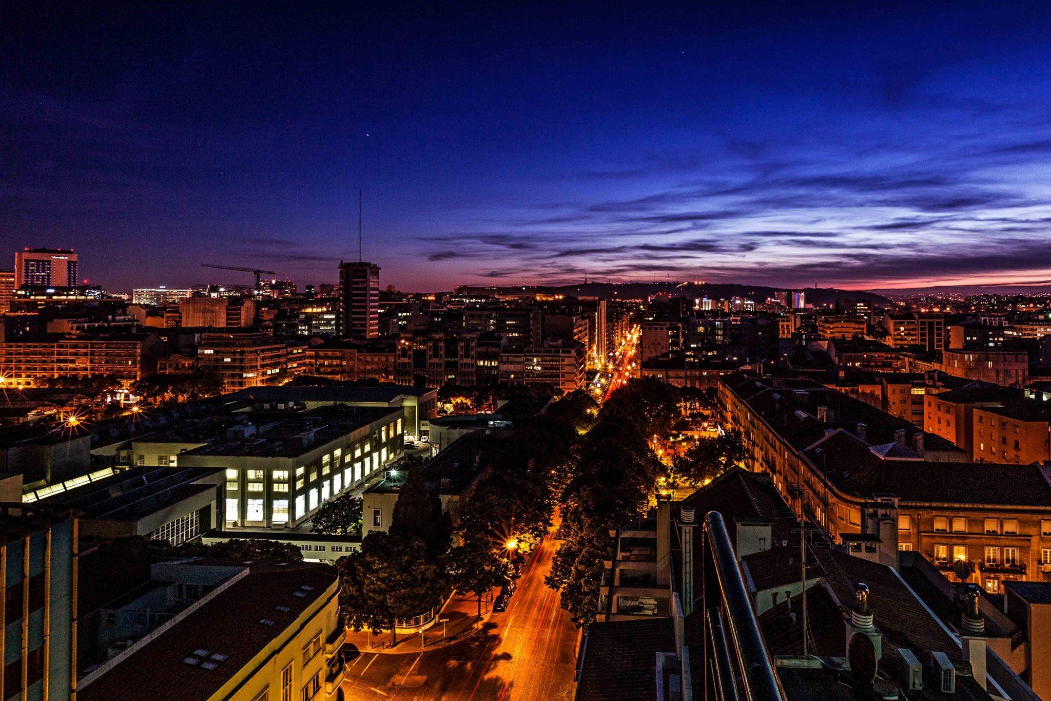 Vue du Highview Bar - Terrasse Rooftop - Holiday Inn - Lisbonne